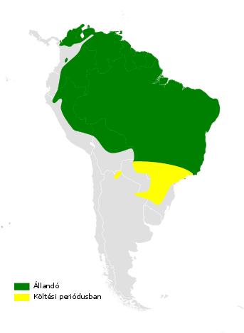 Tachycineta albiventer distribution map