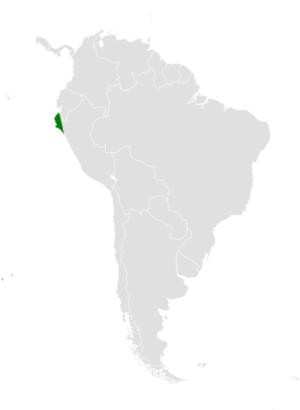 Tumbes swallow - Image: Tachycineta stolzmanni distribution map