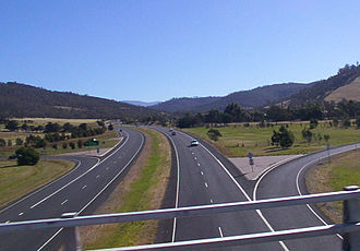 Tasman Highway - The Tasman Highway at Cambridge