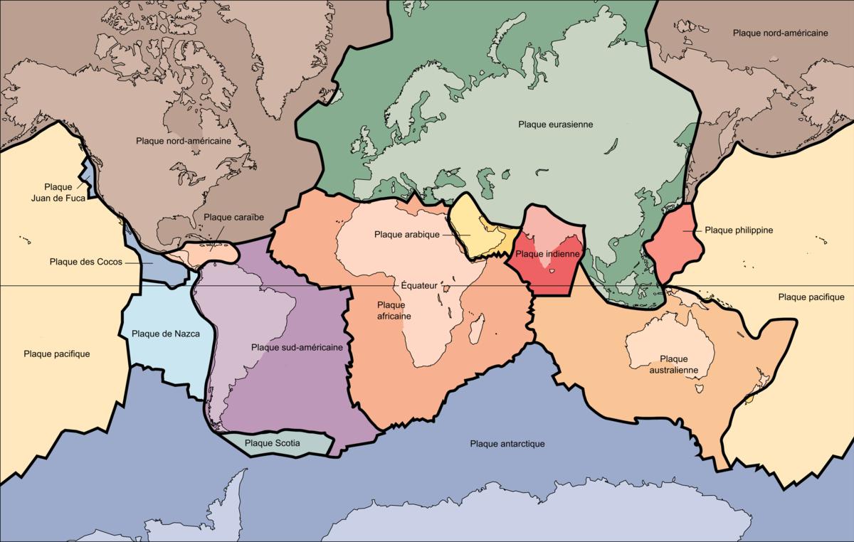 plaques lithospheriques