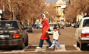 Tehran street crossing
