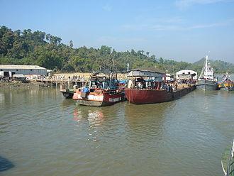 Teknaf Upazila - View of the Launch Terminal of Teknaf Bangladesh