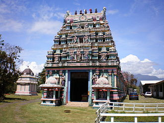 Tamil diaspora - A Malbar temple in Réunion.