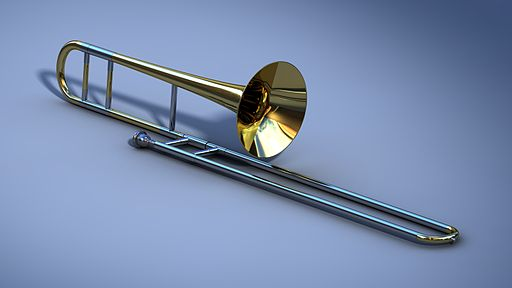 Tenor slide trombone 3D model