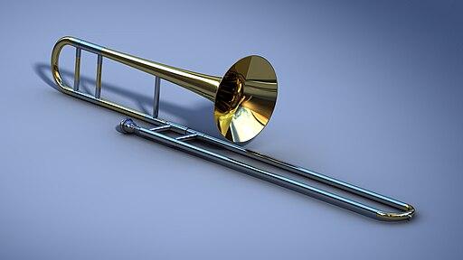 Tenor slide trombone 3D model