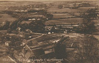 Cranbrook and Tenterden Light Railway - Tenterden Town station c1900, the only station on the Cranbrook and Tenterden Light Railway to be built