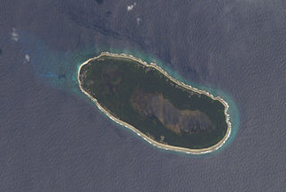 Teraina coral atoll in the central Pacific Ocean