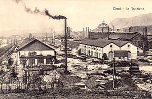 Economic history of Italy - Terni steel mills in 1912.