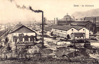 Economy of Italy - Terni steel mills in 1912.