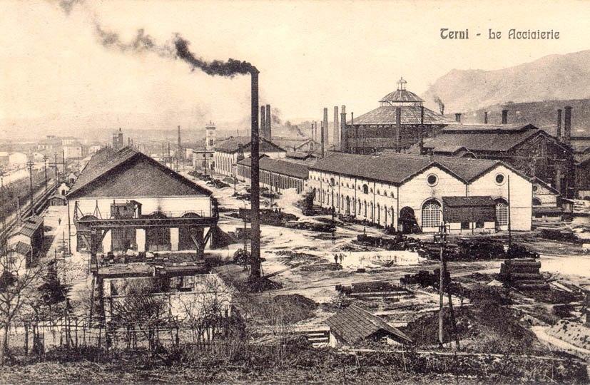 Terni - le Acciaierie 1912