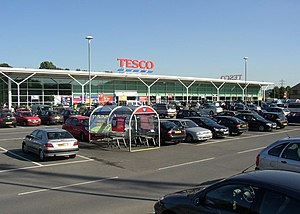 English: Tesco supermarket, Brighouse. Tesco h...