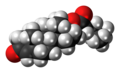 Testosterone isocaproate molecule spacefill.png