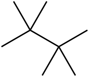 Tetramethylbutane - Image: Tetramethylbutane skeletal