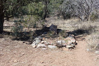 Pleasant Valley War - Graves of John Tewksbury and William Jacobs outside of Young, AZ