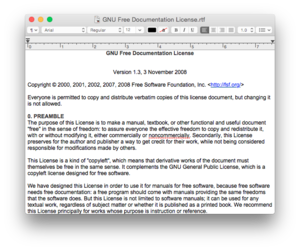 Screenshot of Apple's TextEdit