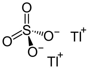 Thallium(I) sulfate - Image: Thallium(I)sulfaat
