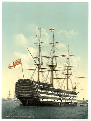 "Commander-in-Chief, Portsmouth - Image: The ""Victory"" (Nelson's Flagship), stern, Portsmouth, England LCCN2002708062"