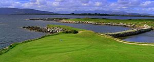 Carraroe - The 2nd green in Connemara Isles Golf Club