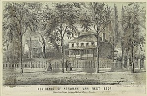 Charles Street (Manhattan) - The Abraham Van Nest Residence between Charles and Perry Streets in 1860
