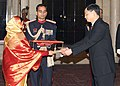 The Ambassador of China to India, Mr. Zhang Yan presented his Credentials to the President, Smt. Pratibha Devisingh Patil, at Rashtrapati Bhavan in New Delhi on December 18, 2007.jpg