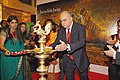 The Ambassador of India to Germany, Shri Sudhir Vyas lighting the lamp to inaugurate the India Tourism Pavilion, at ITB, Berlin on March 10, 2010.jpg