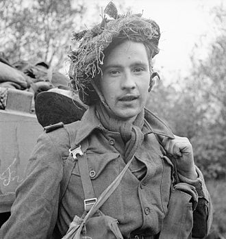 Monmouthshire Regiment - Private A. Anderson of the 2nd Battalion, Monmouthshire Regiment, during the assault on Venraij, 17 October 1944.