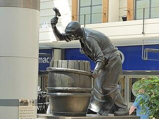 <i>The Burton Cooper</i> 1977 English statue