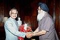 The Chief Minister of Punjab, Shri Prakash Singh Badal meeting with the Union Home Minister, Shri Shivraj V. Patil, in New Delhi on April 09, 2007.jpg