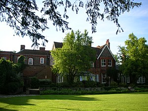 Cosener's House - The lawn and main building.