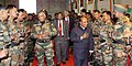 The Defence Minister, Shri A. K. Antony interacts with troops at Leimakhong in North East, on February 19, 2011.jpg