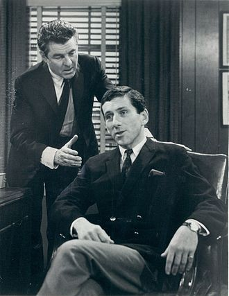 The Edge of Night - Laurence Hugo and Barry Newman as Mike Karr and John Barnes (1966)