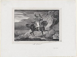 Giaour - Théodore Gericault: The Giaour (1820, lithograph; Metropolitan Museum of Art, New York)