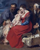 The Holy Family with Saints Elizabeth and John the Baptist, by Peter Paul Rubens.jpg