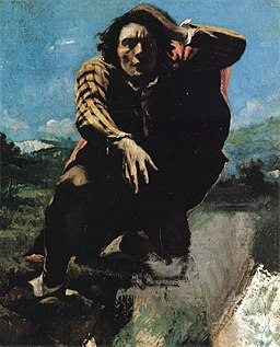 The Man Made Mad with Fear by Gustave Courbet (detail)