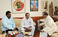 The Member of Parliament, Lok Sabha, Shri Thota Narasimham calling on the Minister of State for Culture (IC) and Environment, Forest & Climate Change, Dr. Mahesh Sharma, in New Delhi on May 14, 2018.JPG
