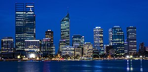 Perth (suburb) - Perth central business district