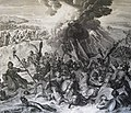 The Phillip Medhurst Picture Torah 377. Moses commands the return of the Red Sea. Exodus cap 14 vv 23-28. Hoet.jpg