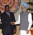 The Prime Minister, Dr. Manmohan Singh meeting with the President, Democratic Republic of Congo, Mr. Joseph Kabila Kabange, in New Delhi on April 09, 2008.jpg