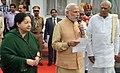 The Prime Minister, Shri Narendra Modi announces immediate relief of 1000 crore for flood hit Tamil Nadu on December 03, 2015.jpg