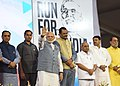 The Prime Minister, Shri Narendra Modi flagged off the Surat Marathon, in Gujarat.jpg