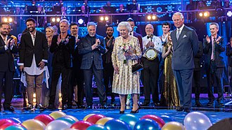 The Queen's Birthday Party - Queen Elizabeth II joins the musicians on stage