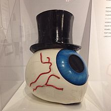An eyeball helmet used by The Residents in concert