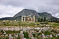 The Temple of Apollo and the Acrocorinth on 6 April 2019.jpg