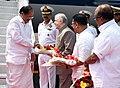 The Vice President, Shri M. Venkaiah Naidu being received by the Governor of Kerala, Shri P. Sathasivam, on his arrival, in Kochi, Kerala.jpg