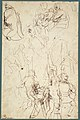 The Virgin Adored by Saints (recto); Study of the Torso Belvedere (verso) MET 2002.12a.jpg