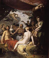 Le festin des dieux au mariage de Pélée et Thétis