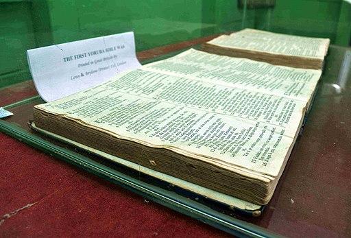 The first Yoruba Bible