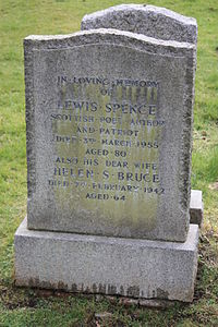 The grave of Lewis Spence, Dean Cemetery.jpg