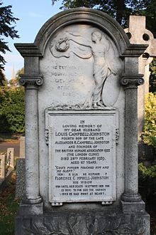 The grave of Louis Campbell-Johnston, Brompton Cemetery.JPG