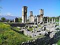 The imposing basilica next to the Forum and its gagantic pillars, also known as Basilica B, Philippi (7272724998).jpg